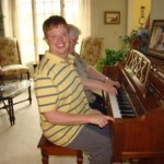Aaron at piano