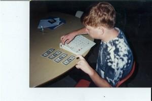 Aaron learning money skills