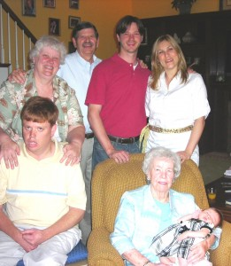 Aaron and 4 generations of family