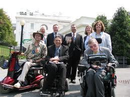 Bob Williams and Advocates at White House