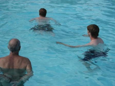 Aaron swimming